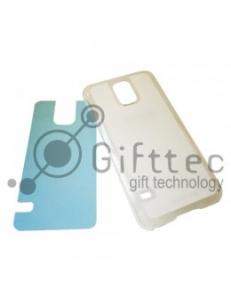 Samsung Galaxy S5 - Прозрачный чехол пластиковый (вставка под сублимацию) 11097