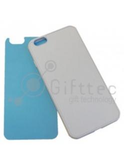 IPhone 6 PLUS - Белый силиконовый чехол (вставка под сублимацию) 11153