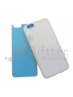 IPhone 6 - Белый силиконовый чехол (вставка под сублимацию) 11155