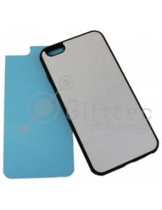 IPhone 6 PLUS - Черный чехол пластиковый (вставка под сублимацию) 11158