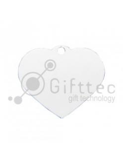Брелок для ключей металический Сердце БЕЛЫЙ упаковка 10шт 11257