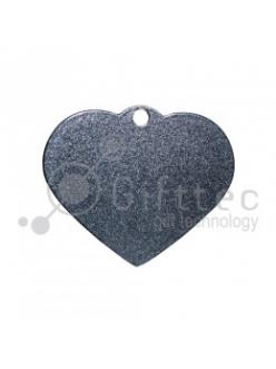 Брелок для ключей металический Сердце СЕРЕБРО упаковка 10шт 11258