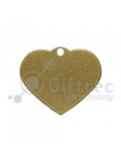 Брелок для ключей металический Сердце ЗОЛОТО упаковка 10шт 11259