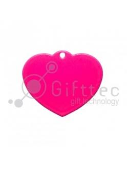 Брелок для ключей металический Сердце РОЗОВЫЙ упаковка 10шт 11260