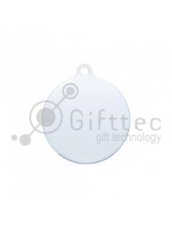 Брелок для ключей Круг (медальон) БЕЛЫЙ упаковка 10шт 11263