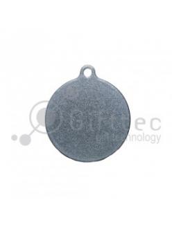 Брелок для ключей Круг (медальон) СЕРЕБРО упаковка 10шт 11264