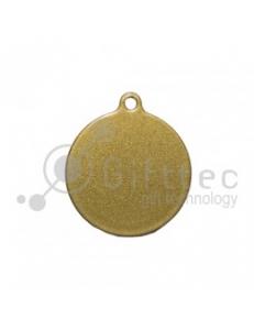 Брелок для ключей Круг (медальон) ЗОЛОТО упаковка 10шт 11265