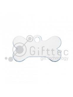 Брелок для ключей металический Кость (Адресник малый) БЕЛЫЙ упаковка 10шт 11267