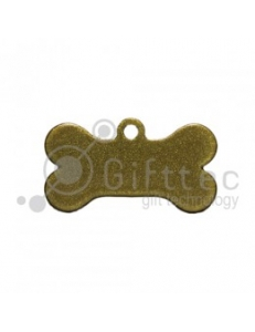Брелок для ключей металический Кость (Адресник малый) ЗОЛОТО упаковка 10шт 11268