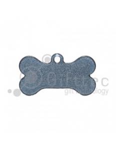Брелок для ключей металический Кость (Адресник малый) СЕРЕБРО упаковка 10шт 11269