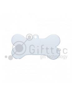 Брелок для ключей металический Кость (Адресник большой) БЕЛЫЙ упаковка 10шт 11270