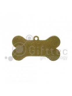 Брелок для ключей металический Кость (Адресник большой) ЗОЛОТО упаковка 10шт 11271