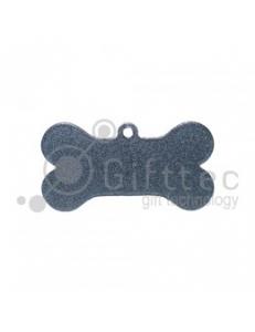 Брелок для ключей металический Кость (Адресник большой) СЕРЕБРО упаковка 10шт 11272