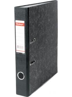 """Регистратор 50мм черный, карман, мрамор """"BERLINGO""""Standard"""" 119938"""