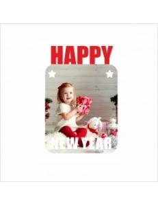 """Магнит металлический """"Happy new year"""" под сублимацию 12036"""