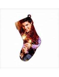"""Игрушка на елку металлическая """"Рождественский носок"""" (упаковка 10шт) под сублимацию 12046"""
