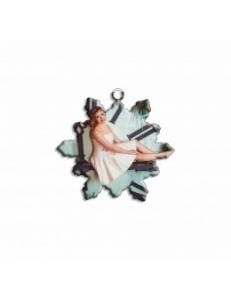 """Брелок металлический """"Снежинка"""" (упаковка 10шт) под сублимацию 12050"""