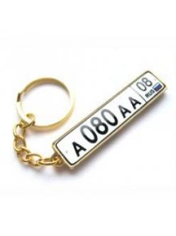 Брелок для ключей ГОСНОМЕР PREMIUM ЗОЛОТО с бортиком с прозрачной линзой (комплект для изготовления брелока) упаковка 10шт 12301