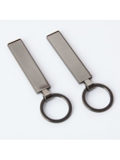 Брелок для ключей PREMIUM ЧЕРНЫЙ ХРОМ с бортиком с прозрачной линзой (комплект для изготовления брелока) упаковка 10шт 12302