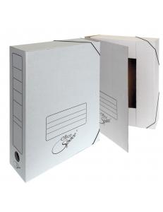 """Папка архивная на резинках белая ( 75мм) микрогофрокартон """"Спейс"""" 158548"""