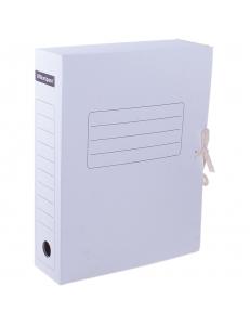 """Папка архивная с завязками белая ( 75мм) микрогофрокартон """"OfficeSpace"""" 158550"""