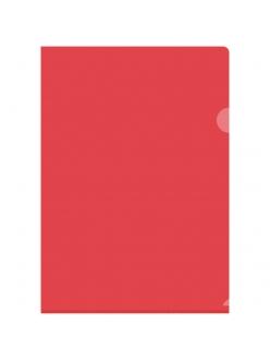 """Папка-уголок А4 150мкм прозрачная красная """"OfficeSpace"""" 162534"""