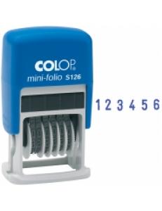 Нумератор автоматический мини 6разрядов 3,8мм, пластик <S 126/BL> Colop 163201