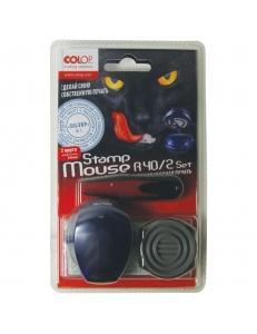 "Печать самонаб. 2круга карманная <Stamp Mouse R40/2 SET> ""COLOP"" 163214"