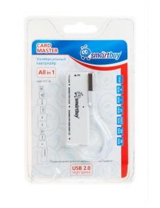 Картридер внешний универсальный <SBR-717-W> белый USB 2.0 SmartBuy SBR-717-W