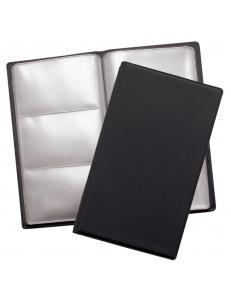 """Визитница ( 72 визитки) 110х190мм ПВХ, черный """"Спейс"""" 186570"""