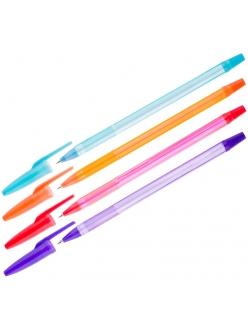 """Ручка шариковая """"OfficeSpace Fluo"""" (0,5) синяя, ароматическая, корпус ассорти <BPAF_1841> 197496"""