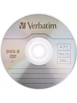 DVD-R Verbatim 4.7Gb 16x тех.уп.( 10шт)в пленке 2000074260018