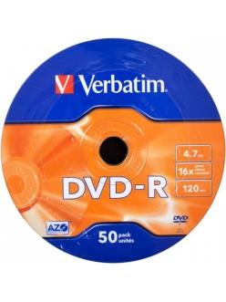DVD-R Verbatim 4.7Gb 16x тех.уп.( 50шт.)в пленке 2000118140016