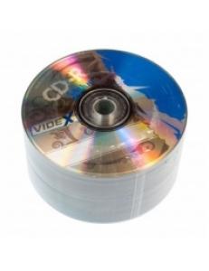 "CD-R Videx 700MB 80мин.52x ""X-BLUE"" в пленке (50шт.) 2000142430015"