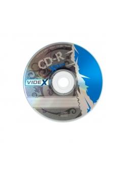 "CD-R Videx 700MB 80мин.52x ""X-BLUE"" в пленке (10шт.) 2000160420012"
