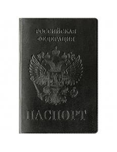 """Обложка для паспорта ПВХ """"Герб"""" черный """"OfficeSpace"""" 201788"""