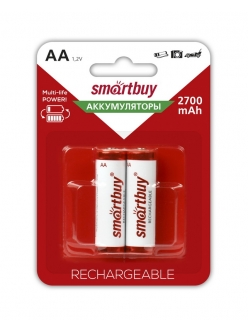 Аккумулятор SMART BUY R6/AA NiMH 2700mAh 2BL