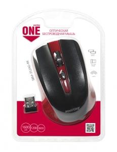 Мышь беспроводная красная/черная <SBM-352AG-RK> USB SmartBuy SBM-352AG-RK