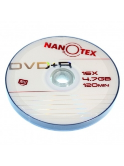 "DVD+R NANOTEX 4.7Gb 16x ""Brand"" в пленке (10шт.)"