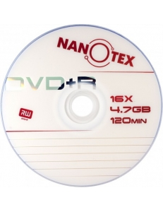 "DVD+R NANOTEX 4.7Gb 16x ""Brand"" в пленке (50шт.)"