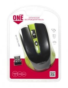 Мышь беспроводная зеленая/черная <SBM-352AG-GK> USB SmartBuy SBM-352AG-GK