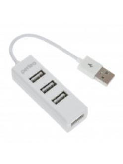 USB HUB 4 порта белый USB 2.0 <PF-HYD-6010H> PERFEO PF-HYD-6010H