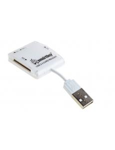Картридер внешний универсальный <SBR-713-W> белый USB 2.0 SmartBuy SBR-713-W