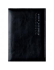 """Обложка для паспорта иск.кожа, с подкладом, черный """"OfficeSpace"""" 222063"""