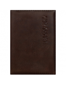 """Обложка для паспорта иск.кожа, с подкладом, коричневый """"OfficeSpace"""" 222064"""