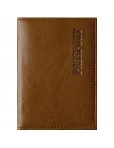 """Обложка для паспорта иск.кожа, с подкладом, рыжий """"OfficeSpace"""" 222065"""