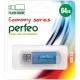 Флэш-карта 64Gb USB 2.0 E01 Синяя с колпачком Economy series PERFEO