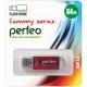 Флэш-карта 64Gb USB 2.0 E01 Красная с колпачком Economy series PERFEO