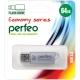 Флэш-карта 64Gb USB 2.0 E01 Серебро с колпачком Economy series PERFEO
