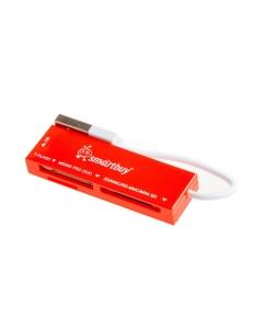 Картридер внешний SmartBuy универсальный <SBR-717-R> красный USB 2.0 SBR-717-R
